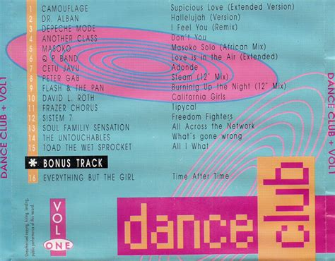 Cd Dnce Dnce 2016 By Club vs house club vol 1 cd compilation 1993