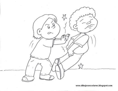 dibujos de nios peleando para colorear amigos peleando para colorear imagui
