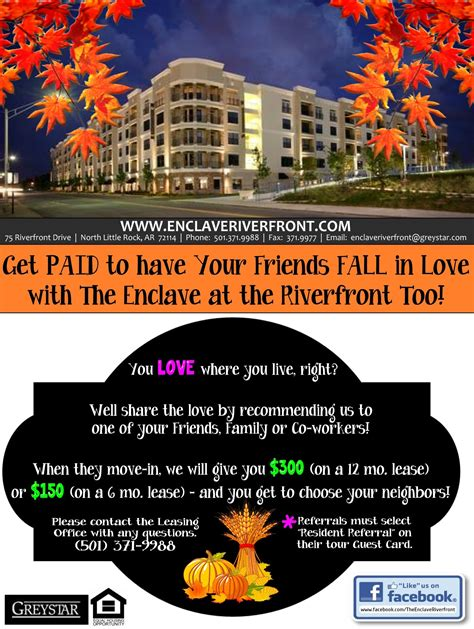 This Is A Resident Referral Flyer I Made For The Property I Currently Work For Layout Leasing Flyer Templates
