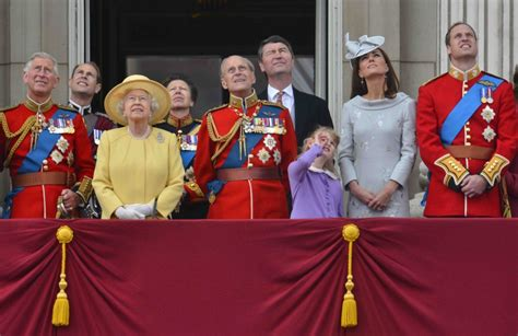members of the british royal family trooping the colour queen s diamond jubilee marked by gun