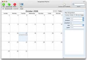 Student Assignment Planner Template Assignment Planner Mac Download