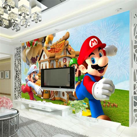 Wall Murals For Boys aliexpress com buy super mario photo wallpaper