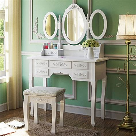 vanity set with table mirror and stool bedroom makeup offer cheap tribesigns makeup vanity table set with 3