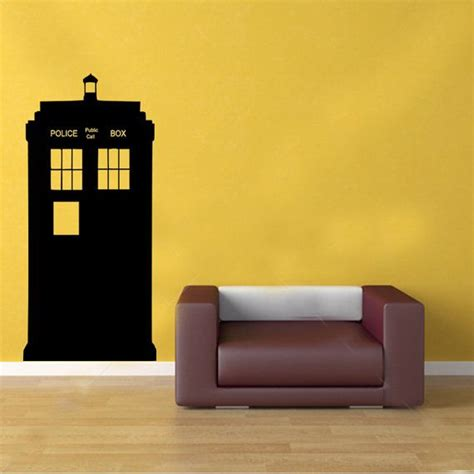 dr who wall stickers doctor who tardis box vinyl wall sticker decal transfer graphic 163 15 99 via