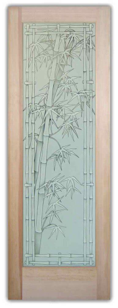 Decorative Etched Glass Interior Doors Bamboo Shoots 3d Pinstripe Etched Glass Doors Asian Decor Decorative Glass Doors That Provide