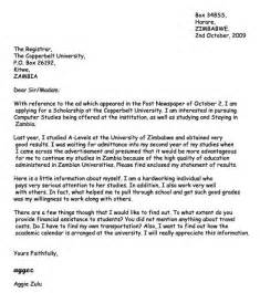 Cover Letter Sle For Scholarship Application by 17 Best Images About Letters On Sales