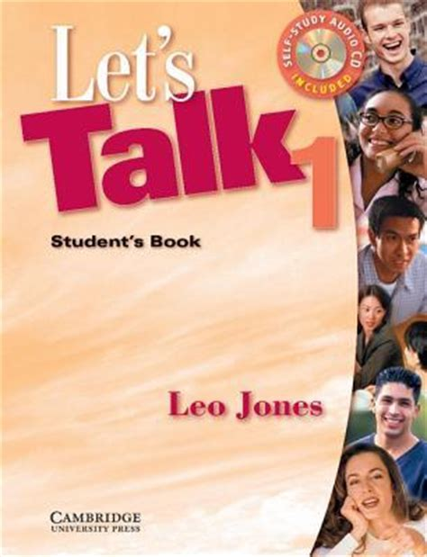 let s talk and stds student edition let s talk stds books let s talk 1 student s book and audio cd by leo jones