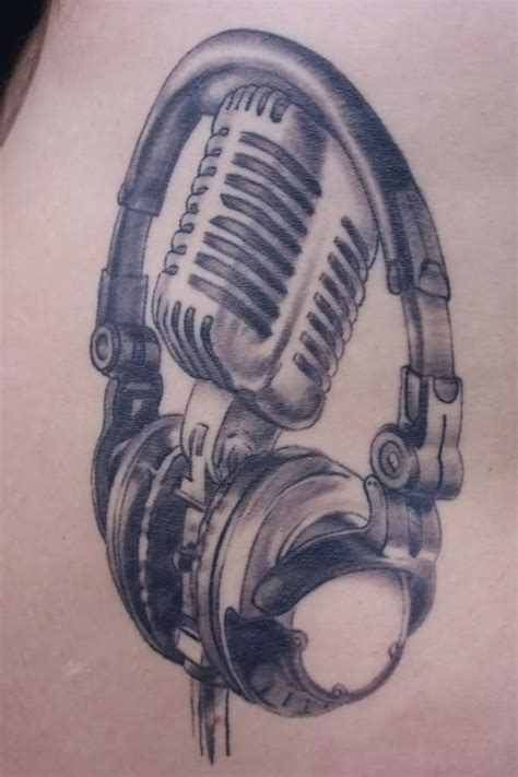 microphone tattoo grey pictures to pin on pinterest