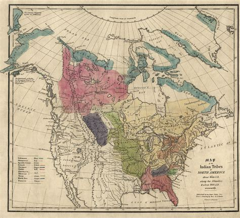 map of indian tribes of america antique map of the indian tribes of america by