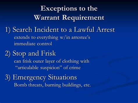Exceptions To Search Warrant The Fourth Amendment What Are Your Rights Search And Seizure Ppt