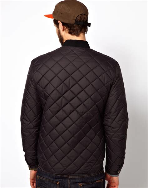 Penfield Quilted Jacket by Penfield Landrum Quilted Bomber Jacket In Black For Lyst