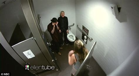caught in the bathroom justin bieber and ellen degeneres get caught making out
