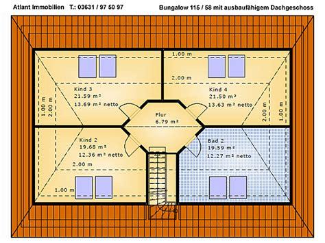 walmdach ausbauen bungalow 115 58 einfamilienhaus neubau massivbau grundriss