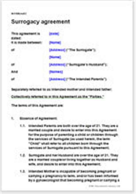 surrogacy agreement contract  agree terms  surrogacy