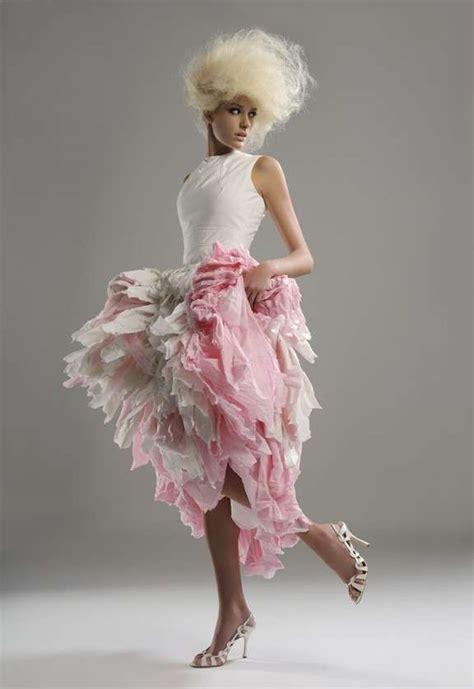 Paper Dresses - high fashion toilet paper dresses for reason