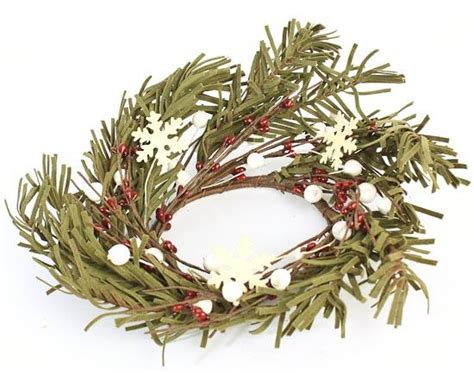 winter welcome candle ring holiday florals christmas