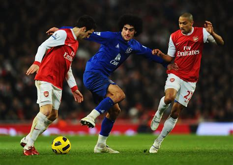 arsenal everton marouane fellaini in arsenal v everton premier league