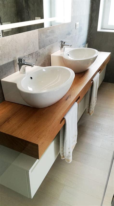 Bagno Con Mensole Mobile Bagno Doppio Lavabo Con Mensola In Legno