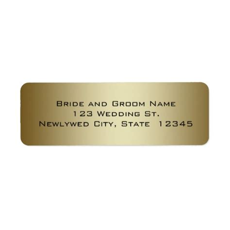 wedding address labels gold wedding return address labels zazzle