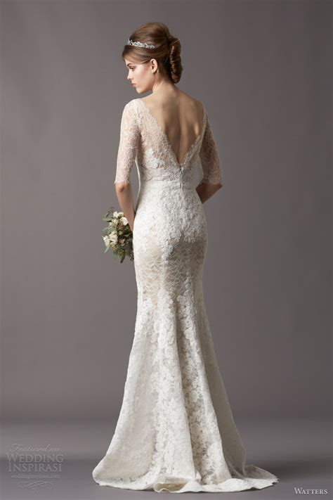 fall wedding dress with embroidered sleeves sang