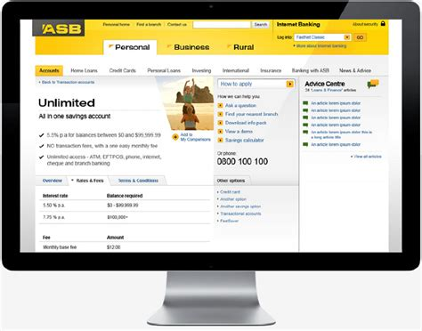 asb bank website marshall lorenzo web graphic designer director