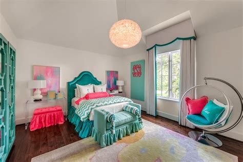 teal and pink bedroom teal headboards contemporary s room talbot