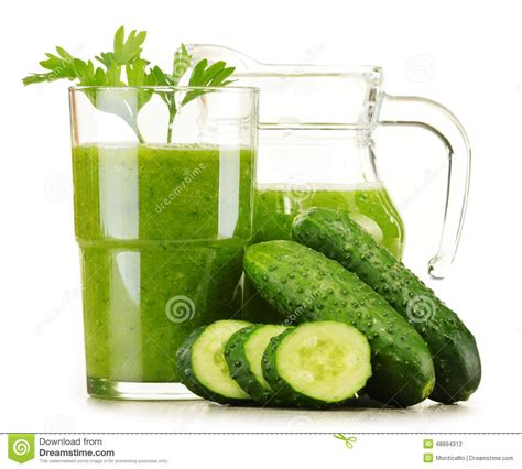 Vegetable Detox Diet by Glass With Fresh Vegetable Juice On White Detox Diet