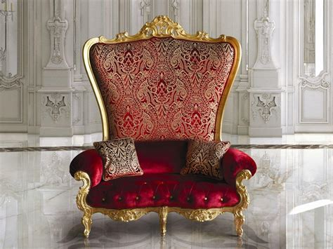 Throne Armchair by Armchair Covered With Fabrics And Velvets Idfdesign