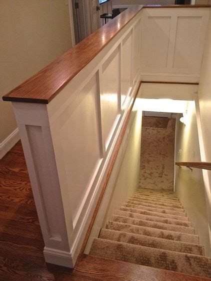 interior wall cap ideas half wall with cap trim and board and batten