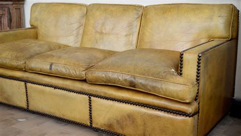 georgian sofa english georgian style leather sofa with large brass