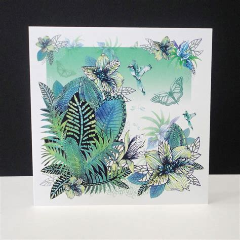 Tropical Cards - tropical forest single card decorque cards