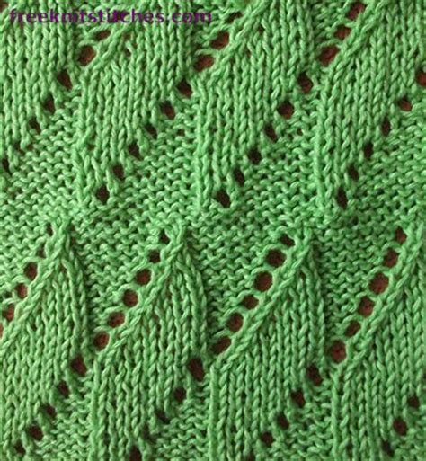 pattern knitting leaf free knitting patterns to download breeze