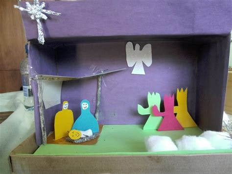 printable nativity diorama nativity diorama caleb pinterest