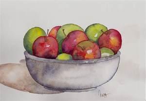 fruit bowl watercoloreveryday fruit bowl