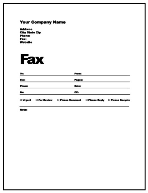 fax template printable free printable fax cover sheet template pdf word