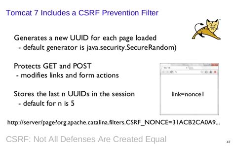 synchronizer token pattern java exle csrf not all defenses are created equal