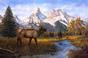 deer landscape 2017 modern home decorative scenery cuadros moose pictures