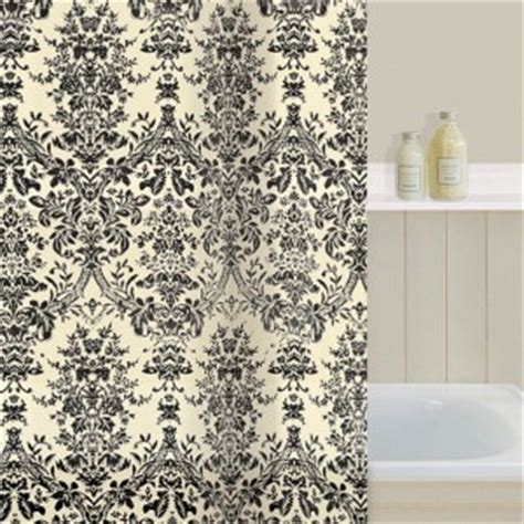 black and cream damask curtains gorgeous ivory black damask shower curtain bnip cream ebay