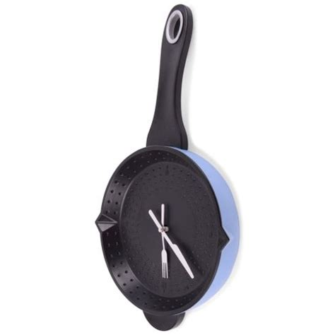 Cutlery Kitchen Wall Clock by Buy Kitchen Saucepan Wall Clock With Cutlery Themed