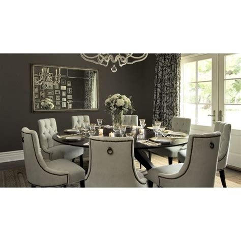 dark taupe dining table dining rooms tufted baker dining chairs walnut round