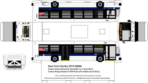 Papercraft Corporation - new york city mta paper model s