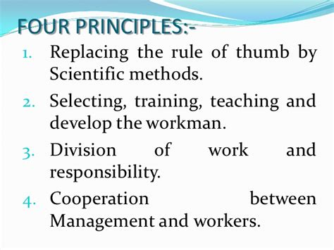 Cheapest State by Principles Of Scientific Management F W Taylor
