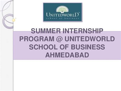 The Home Depot Internship Program Mba by Summer Internship Program Unitedworld School Of Business