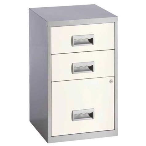 Homebase Filing Cabinet Henry A4 Combi Filing Unit 3 Drawer Cabinet Steel 95447
