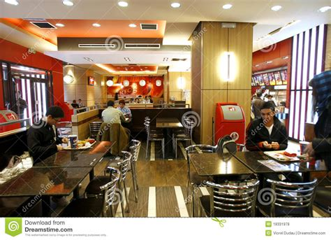 facility layout kfc restaurants fast food restaurant interior editorial stock photo