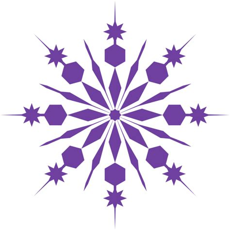 snowflake clipart purple snowflake clip at clker vector clip