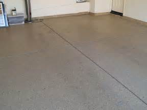 speckled garage floor at the new house 01 11 2008