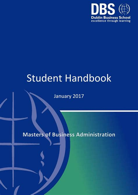 Mba Handbook For Healthcare Professionals by Mba Student Handbook January 2017 By Dublin Business