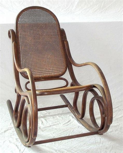 vintage thonet style bentwood rocking chair by antique bentwood rocking chair austrian thonet style 19thc