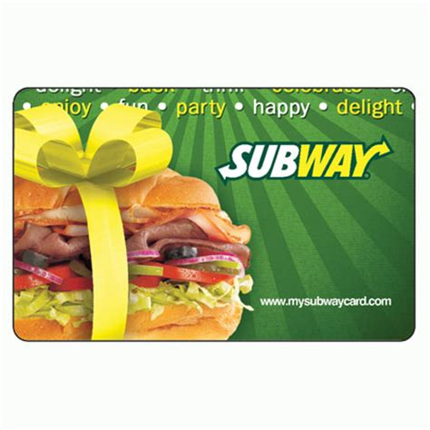 Subway Gift Card - click on the subway gift card to check balance online gift card balance check